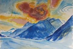 1012, Am Achensee, Aquarell, 75,5 x 56,5 cm