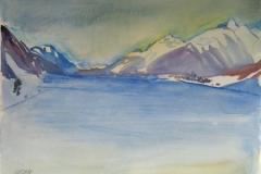 1015 , Achensee, Aquarell, 75,5 x 56,5 cm