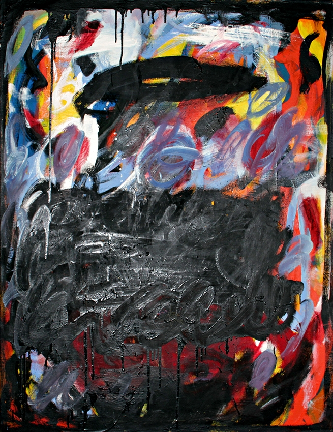 0508, Blow up, 1968, 85x110 cm, Öl / Leinwand