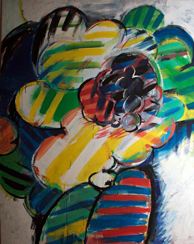 0766, Übergigant, 1970, 135x170 cm, Acryl / Leinwand