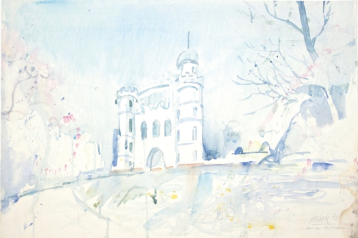 10513, Berlin – Pfaueninsel, Aquarell, 1986, 38x56,5 cm