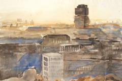 10503, Berlin, Aquarell, 1986, 38,5x36,5 cm