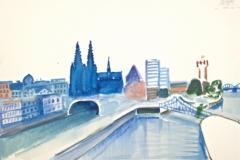 10525, Köln, Aquarell, 38x56,5 cmc