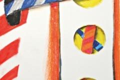 15616, Diaductionen, Wachskreiden/Papier, 1970, 61x43 cm