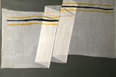 0624, weißes Tuch, 99x85 cm, Acryl / Leinwand