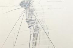 11721, Golf, Bleistift/Papier, 1975, 43x31 cm