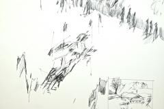11733, Skifahrer, Tusche/Papier, 32x39,5 cm