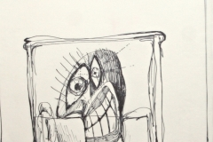 12039, Die lieben Freunde, Tusche/Papier, 42x30 cm