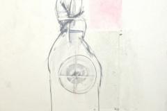 12094, komplett verpackter Skifahrer, Kohle/Papier, 1975, 62,5x48 cm