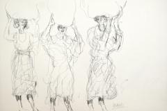 12117, Figur, Kohle/Papier, 1983, 42x59 cm