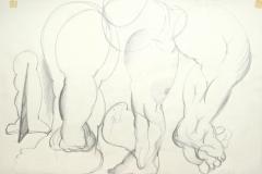 12133, Füße, Kohle/Papier, 42x59 cm