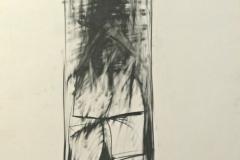 12319, Figur, Kohle/Papier, 1975, 83x62 cm