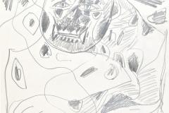 13067, Panther, Bleistift/Papier, 1992, 40x30 cm