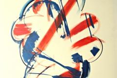 0138, Körper, 1971, 85x100 cm, Acryl / Leinwand