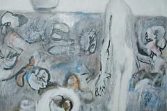 0189, Gedanken an Hiroshima, 1980, 140x180 cm, Acryl / Leinwand