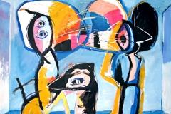 0217, Dreieck, 1973, 130x100 cm, Acryl / Leinwand