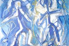 0349, drei Figuren, 1994, 103x73 cm, Acryl / Karton