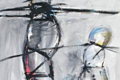 0351, Vater und Sohn, 1973, 85x100 cm, Acryl / Hartfaserplatte