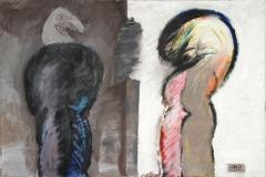 0388, Mann und Frau, 1974, 129,5x84,5 cm, Acryl / Hartfaserplatte