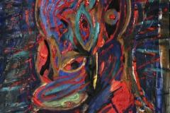0454, Erscheinung, 1973, 47x58 cm, Acryl / Hartfaserplatte