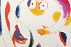 15154, Akt, Wachskreiden/Papier, 61x43 cm