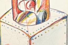15180, Figur, Wachskreiden/Papier, 1972, 38x28 cm