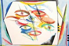 12011, Augen, Aquarell/Papier, 30x40 cm