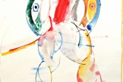 12077, Figur, Aquarell/Papier, 1972, 44,5x35 cm