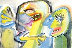 12081, Figuren, Aquarell/Papier, 36x51 cm