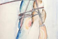 12179, Figur, Aquarell/Kohle/Papier, 1975, 62,5x44 cm