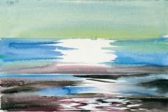 645, Atlantikküste, 1989, Aquarell, 56 x 37,5 cm