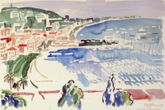 662, Cannes, 1994, Aquarell, 56 x 38 cm