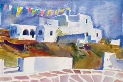 2001, Paros, Naoussa, 1986, Aquarell, 60 x 44 cm