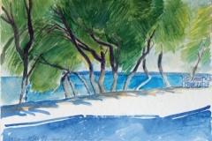 2013, Drios, Paros, 1997, Aquarell, 51 x 36 cm