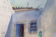 2015, Griechenland, 1994, Aquarell, 28x38 cm