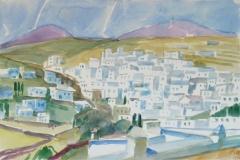 2024, Lemfkes, Paros, 1997, Aquarell, 56 x 38 cm