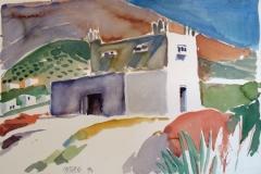 2033, Kirche auf Paros, 1994, Aquarell, 56 x 39 cm