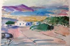 2036, Griechenland, 1986, Aquarell, 44x62 cm