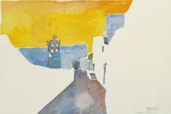 2043, Chora, Patmos, 1987, Aquarell, 56 x 38 cm