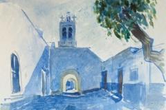 2079, Prodromos, 1997, Aquarell, 51 x 36,5 cm
