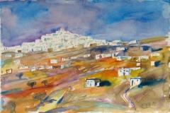 2103, Lemfkes, Paros, 1985, Aquarell, 57 x 39 cm