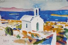 2127, Paros, 1985, Aquarell, 57 x 37 cm