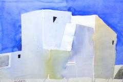 2193, Haus, Aquarell/ Papier, 1986, 39x56 cm