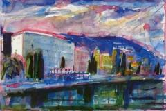 701, Opatija, 1985, Aquarell, 56 x 38 cm