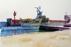 715, Hafen von Opatija, 1985, Aquarell, 38 x 28 cm