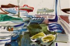 723, Opatija, 1985, Aquarell, 23 x 28,5 cm