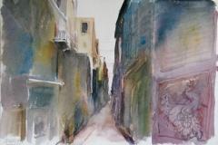 2046, Lettoiano, 1992, Aquarell, 48 x 33 cm