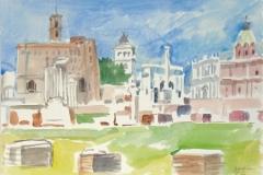 5112, Rom, Forum Romanum, 2001, Aquarell, 50,5 x 35,5 cm