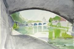 5115, Rom, am Tiber, 2001, Aquarell, 50,5 x 40,5 cm