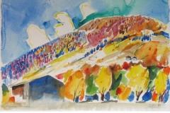 1001, Gaisberg bei Kirchberg, 1984, Aquarell, 56 x 38 cm